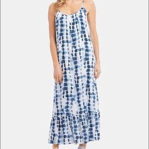 Karen Kane Ruffle Hem Tie Dye Dress